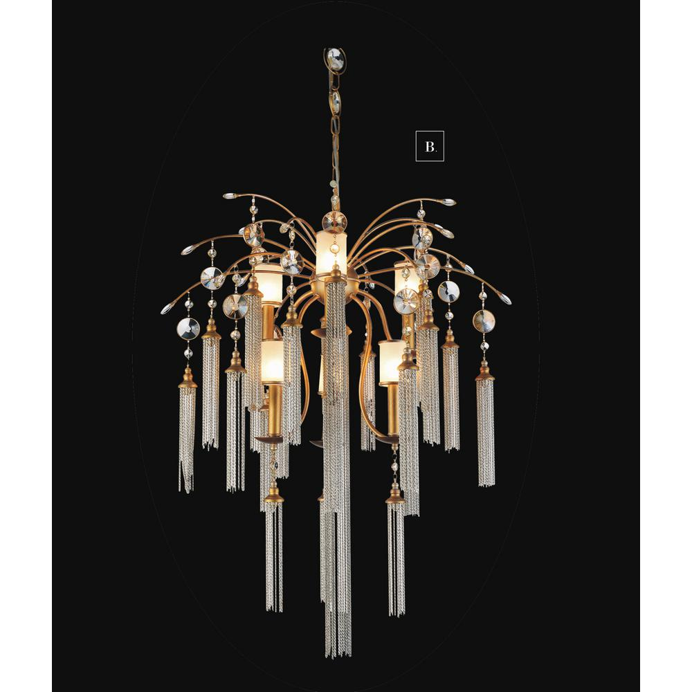 Princess 8 light gold chandelier 8012p20g the home depot chloe 7 light french gold chandelier arubaitofo Choice Image