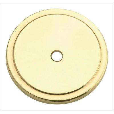Allison 1-3/4 in. (44 mm) Polished Brass Cabinet Knob Backplate