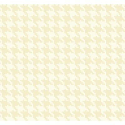 Houndstooth Tan and White Checkered Wallpaper