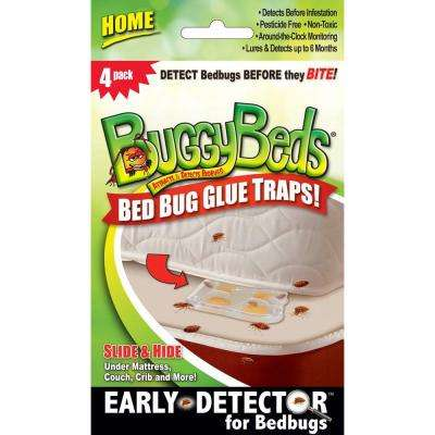 Home Bedbug Glue Traps Detects and Lures Bedbugs (4-Pack)