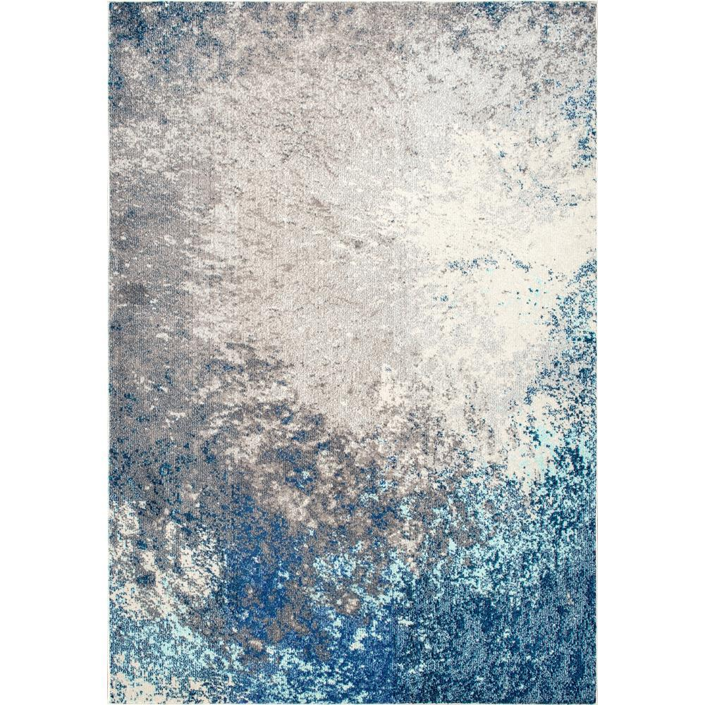 Nuloom Donya Abstract Blue 8 Ft X 11
