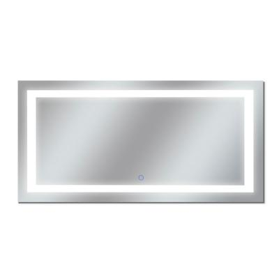 Edison 72 in. W x 38 in. H Frameless Rectangular LED Light Bathroom Vanity Mirror