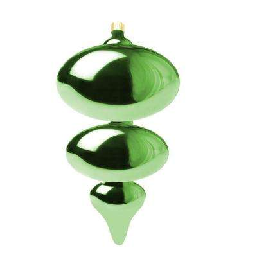 15 in. Limeade Jumbo Shatterproof Finial Ornament (Pack of 4)