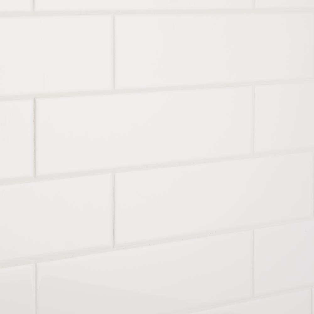 Re Bright White 3 In X 12 Ceramic Wall Tile Sq