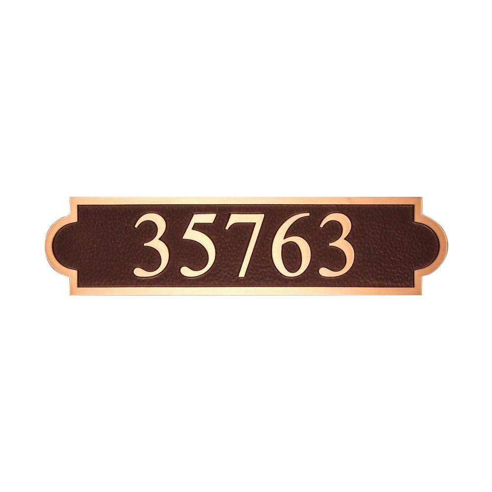 Michael Healy 20.5 in. x 5 in. Classic Double Arch Authentic Solid Bronze Address Plaque in Dark Brown-DISCONTINUED