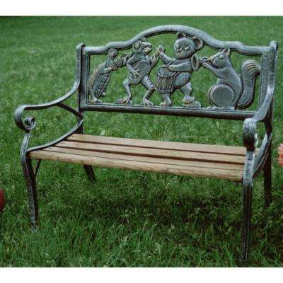 Garden Decorative Outdoor Bench With Animal Band Design