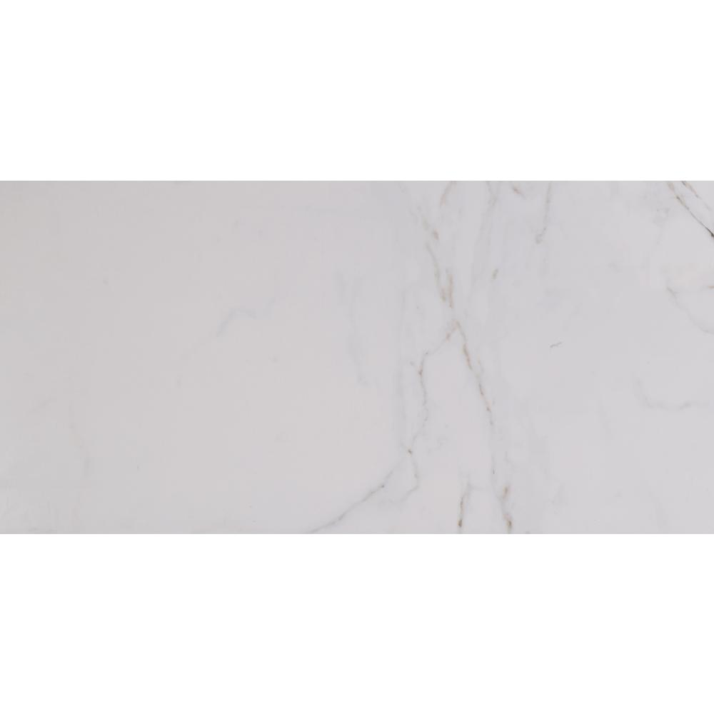 Carrara 12 In X 24 Glazed Polished Porcelain Floor And Wall Tile