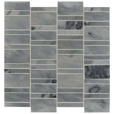 Carrara Classique Multi Pattern 12 in. x 12 in. x 8 mm Honed Marble Mosaic Tile (1 sq. ft.)