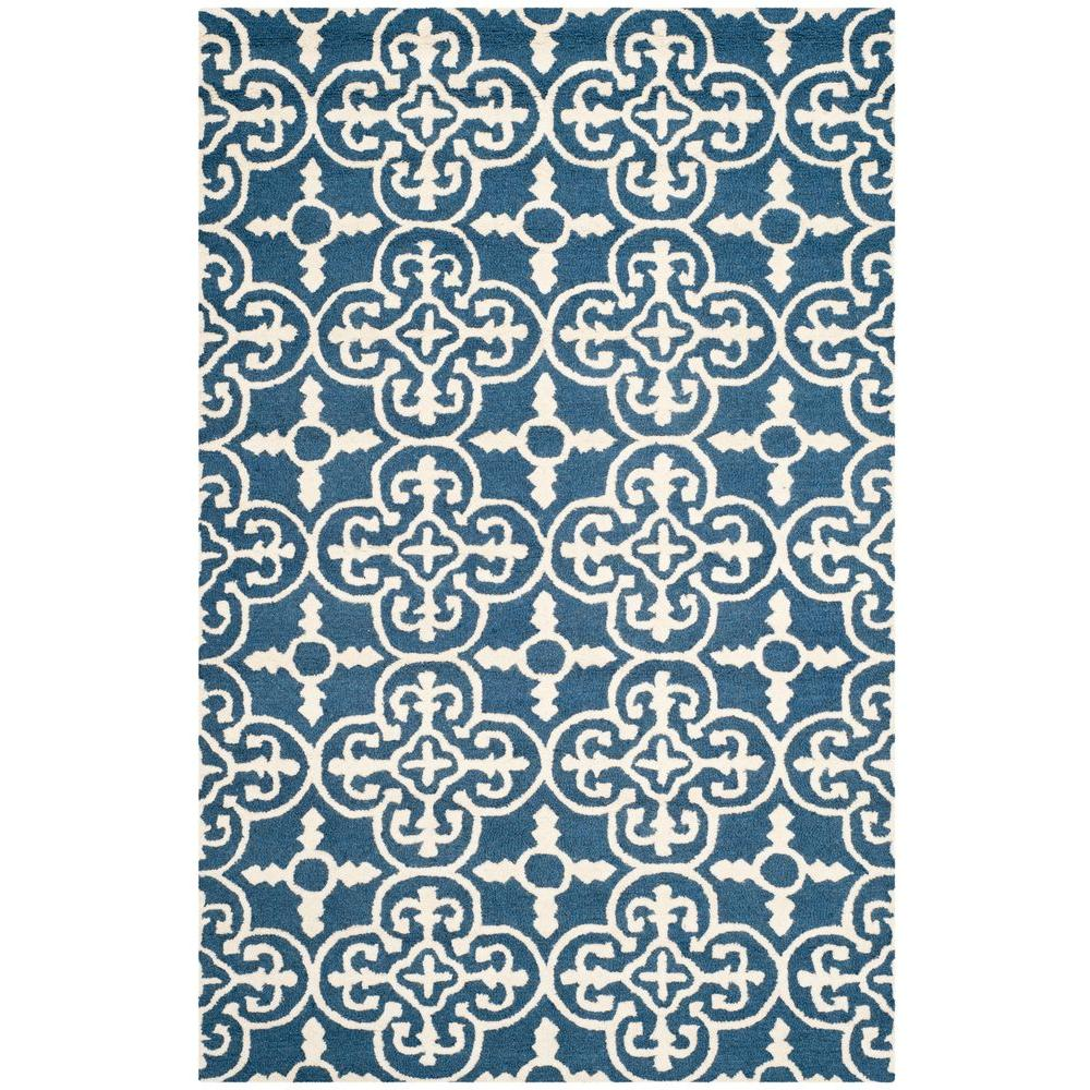 Safavieh Cambridge Navy Ivory 6 Ft X 9 Area Rug