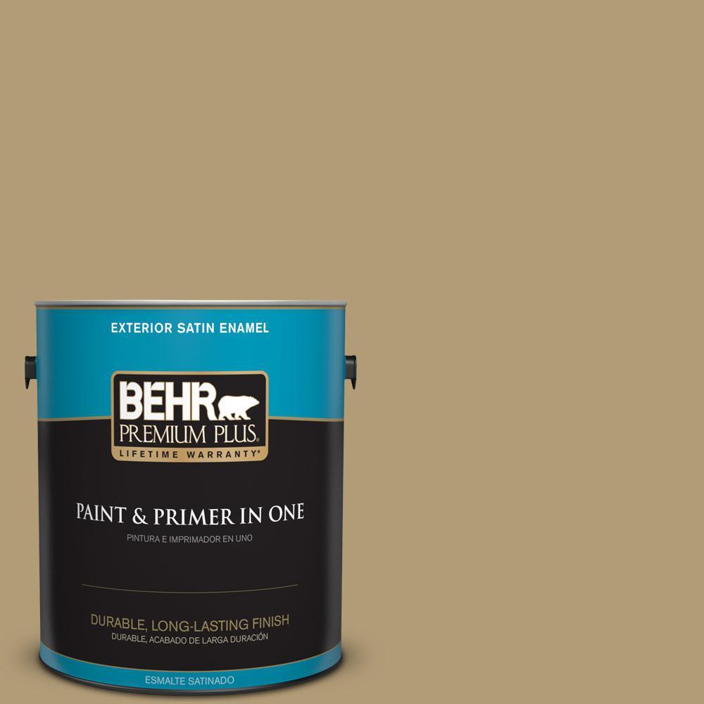 BEHR Premium Plus 1-gal. #S320-5 Ginger Tea Satin Enamel Exterior Paint