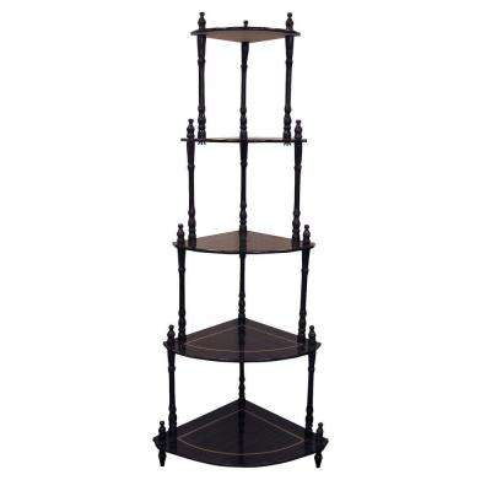 Cherry 5-Shelf Corner Stand