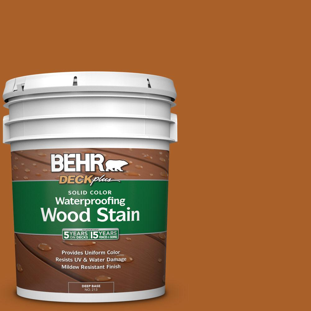 BEHR DECKplus 5 Gal. #SC-533 Cedar Naturaltone Solid