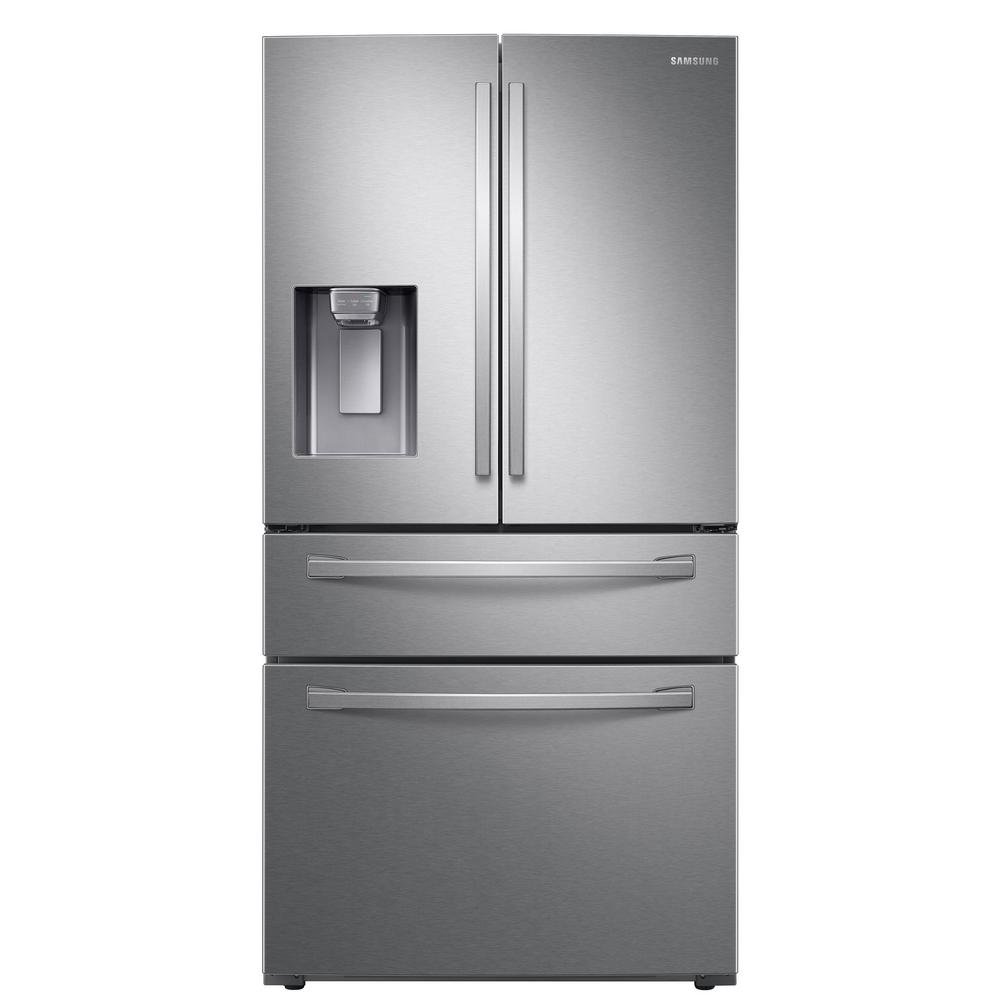 Samsung Samsung 28 cu. ft. 4-Door French Door Refrigerator in Fingerprint Resistant Stainless Steel