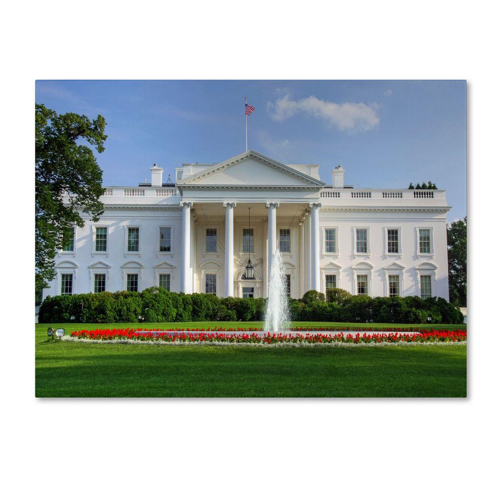 16 in. x 24 in. White House Canvas Art