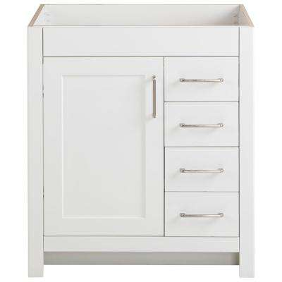 Westcourt 30 in. W x 21 in. D Bathroom Vanity Cabinet Only in White