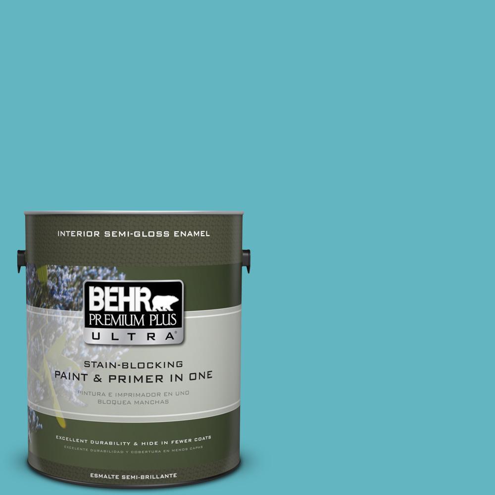 1 gal. #MQ4-51 Adonis Semi-Gloss Enamel Interior Paint and Primer in