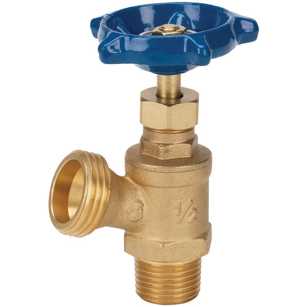 Everbilt 1/2 in. x 1/2 in. Brass MPT x SWT Boiler Drain