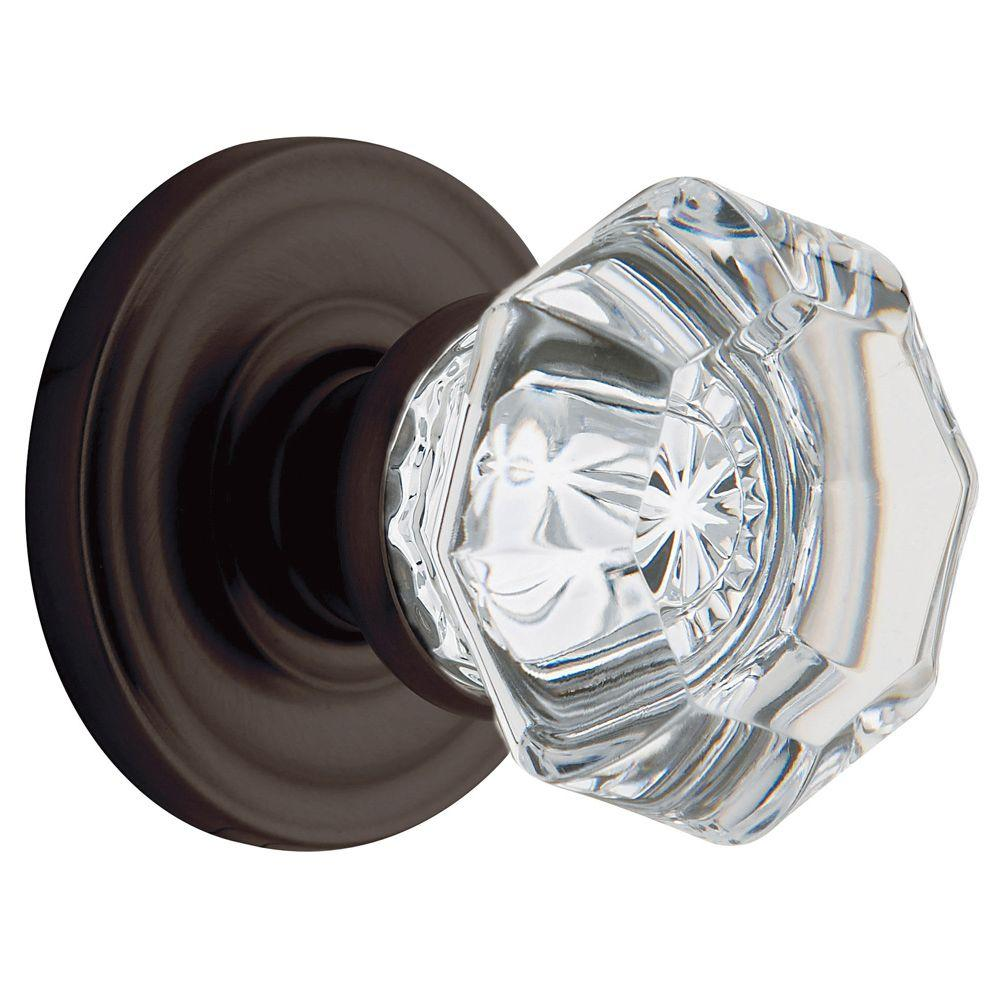 Nice Venetian Bronze Bed/Bath Crystal Knob Baldwin Filmore Clear Elegant Door  Handle