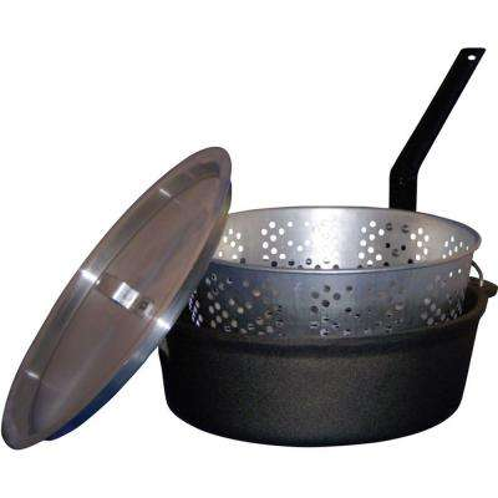 6 qt. Cast Iron Pot with Aluminum Lid and Basket