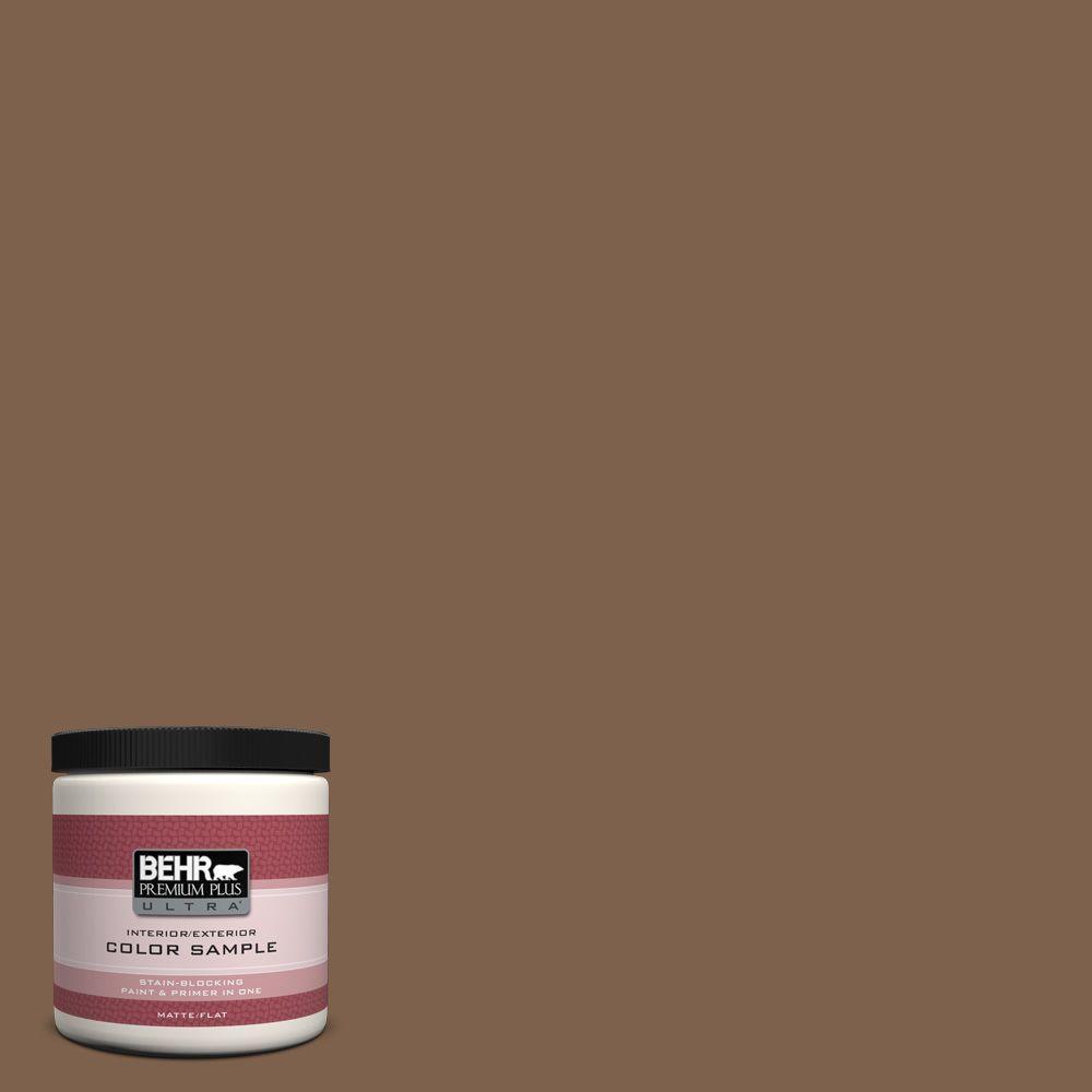 BEHR Premium Plus Ultra 8 oz. Home Decorators Collection Sassafras Tea Interior/Exterior Paint Sample
