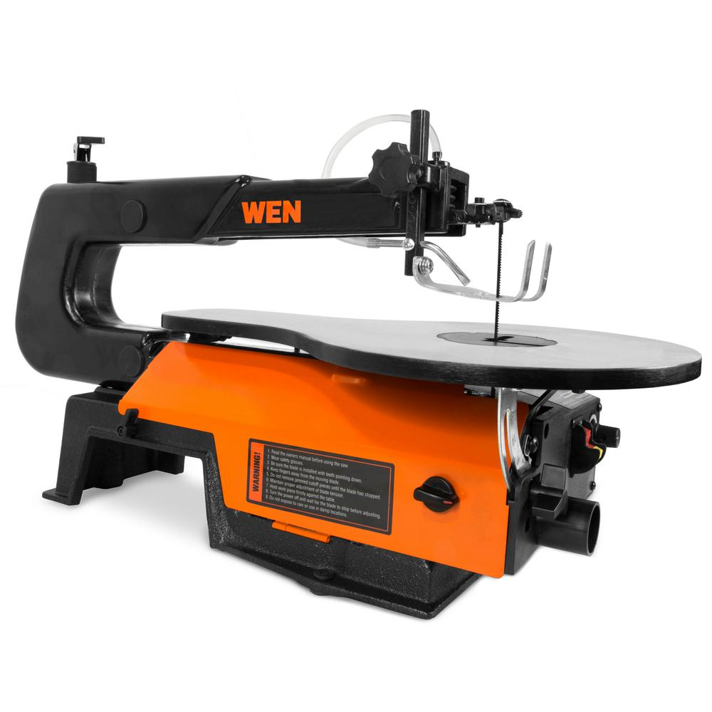 WEN 16-inch Variable Speed Scroll Saw with Easy-Access Blade Changes