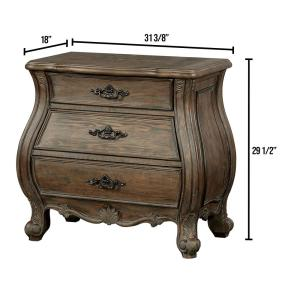 Cursa Rustic Natural Tone Traditional Style Nightstand