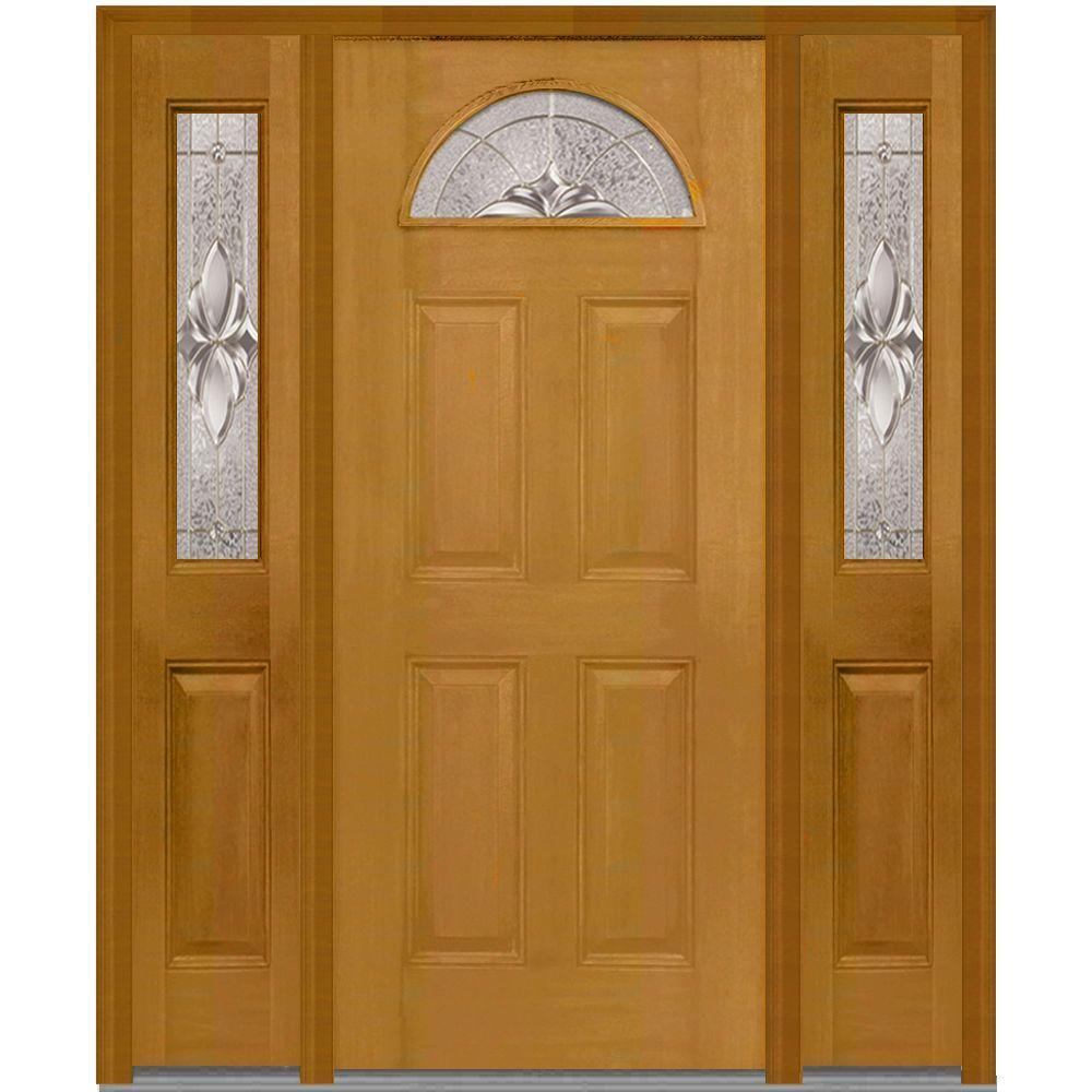 Light brown wood satin nickel mmi door doors with glass 64inx80in heirloom master right hand 14 lite decorative 4 planetlyrics Image collections