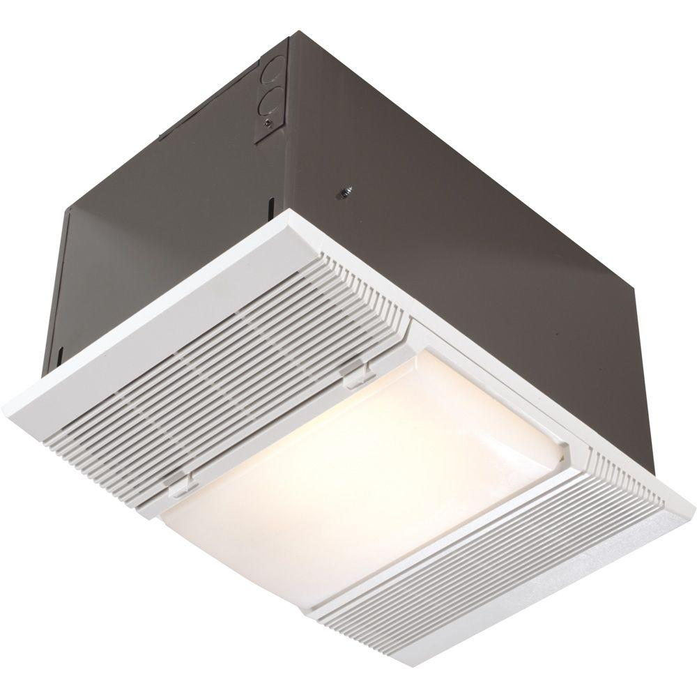 Nutone 1 500 watt recessed ceiling heater with light and for Heat bathroom