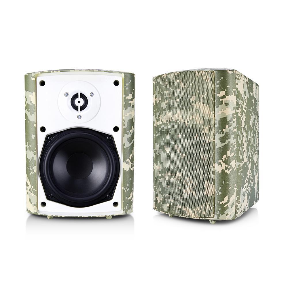 6.50 in. BT BLAST Indoor/Outdoor Wireless Bluetooth Speaker, Camouflage, Pair, by Sound Appeal
