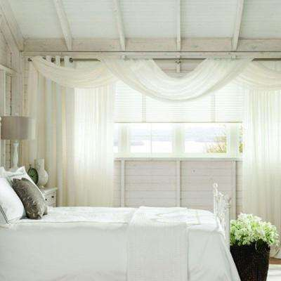 Pole Mounted Fabric Valance