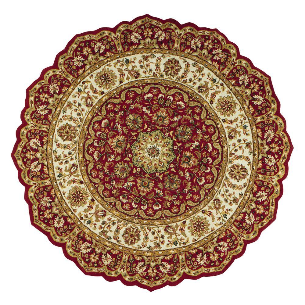 Home Decorators Collection Masterpiece Red 6 Ft Round Area Rug 3713960110