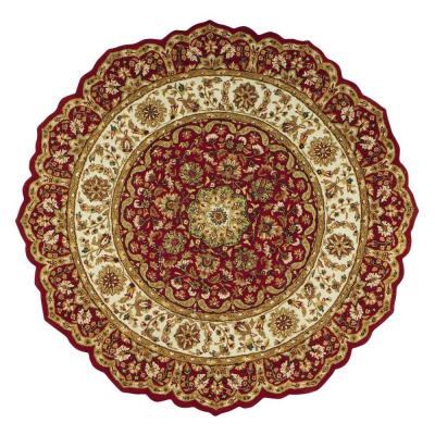Masterpiece Red 6 ft. Round Area Rug