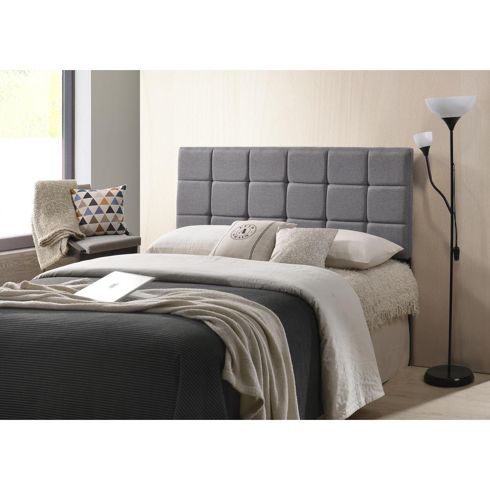 Edgemod Furniture Gray Rochelle Panel Tufted Headboard