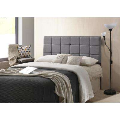 Gray Rochelle Panel-Tufted Headboard, Queen Size