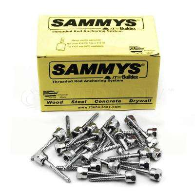 5/16 in. x 1-3/4 in. Rod Anchor Super Screw Swivel Head with 3/8 in. Threaded Rod Fitting for Wood (25-Pack)