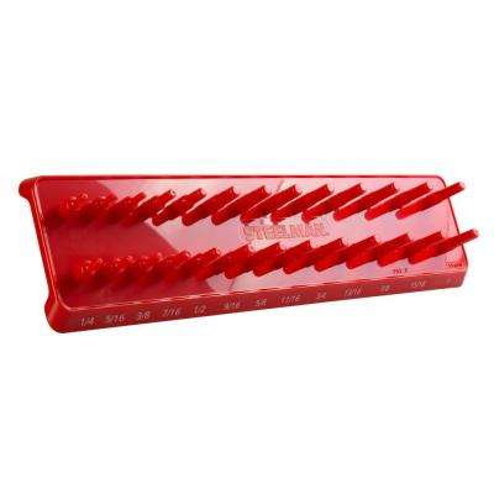3/8 in. Drive 26-Post SAE Socket Holder / Storage Rail