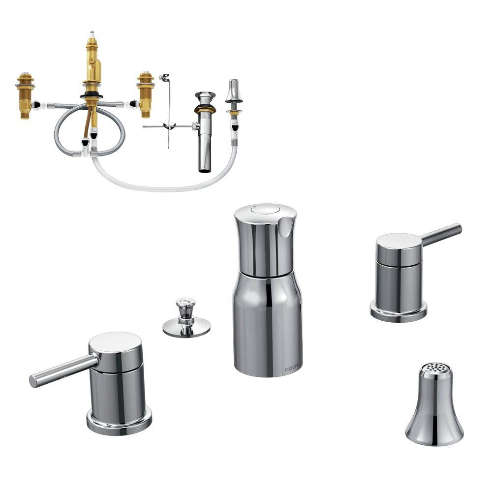 Moen Align 2 Handle Bidet Faucet Trim Kit With Valve In