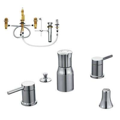 Align 2-Handle Bidet Faucet Trim Kit with Valve in Chrome
