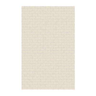Subway Tile 62 in. x 96 in. 1-Piece Easy Up Adhesive Shower Panel in Tahiti Desert