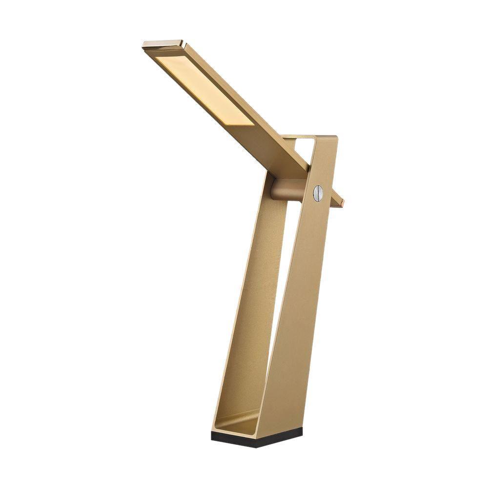 Tilt 11 in. Gold 5-Watt LED Desk Lamp