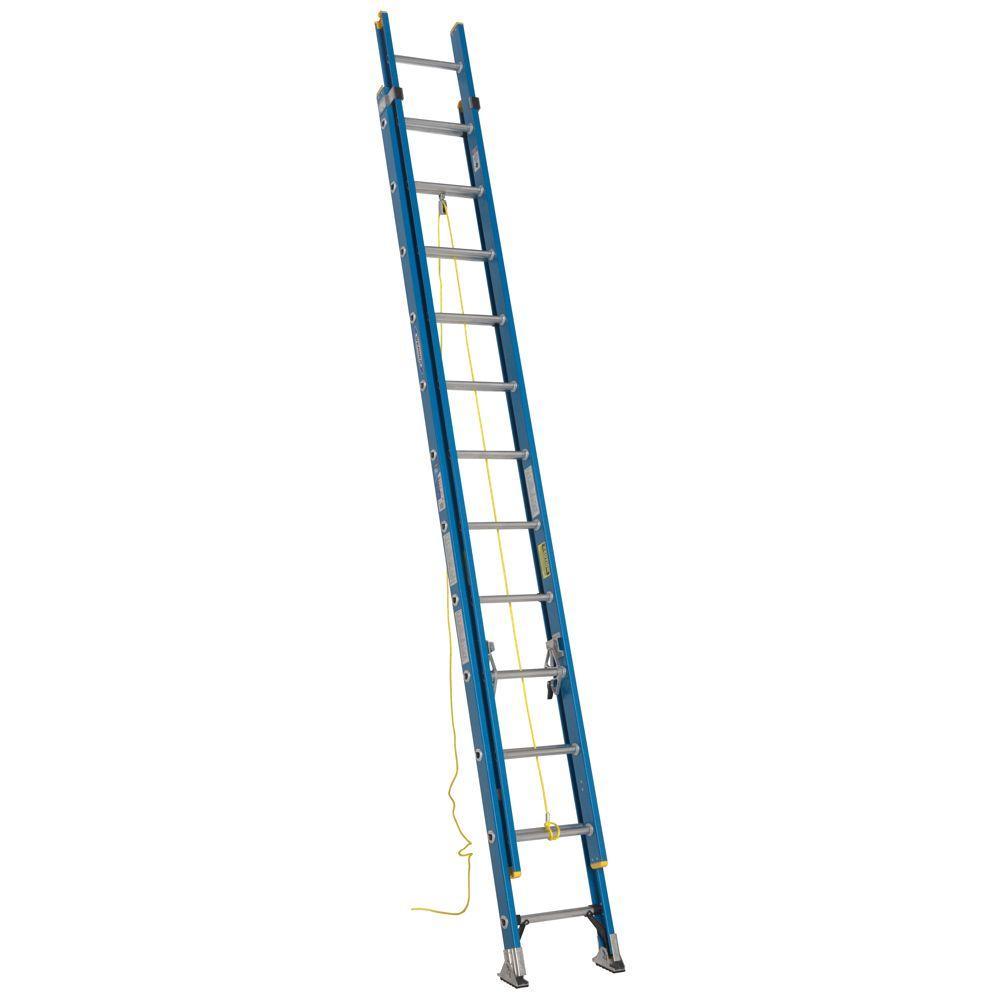 Howard Aluminum Extension Ladder : Werner ft fiberglass d rung extension ladder with