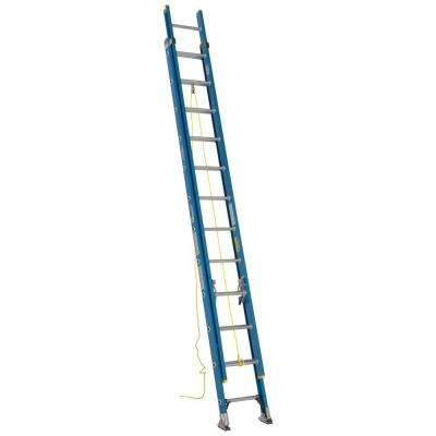 24 ft. Fiberglass D-Rung Extension Ladder with 250 lb. Load Capacity Type I Duty Rating