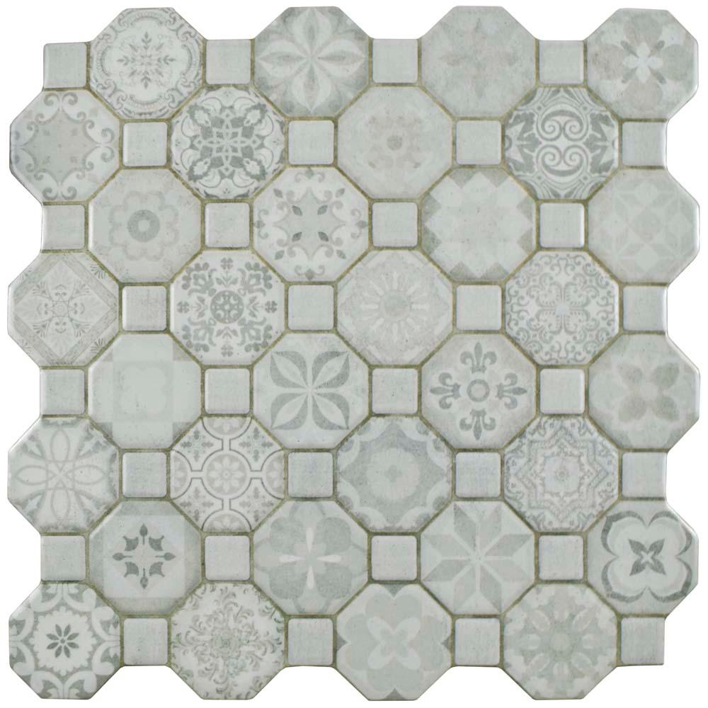 Merola Tile Tessera White 12 1 4 In X
