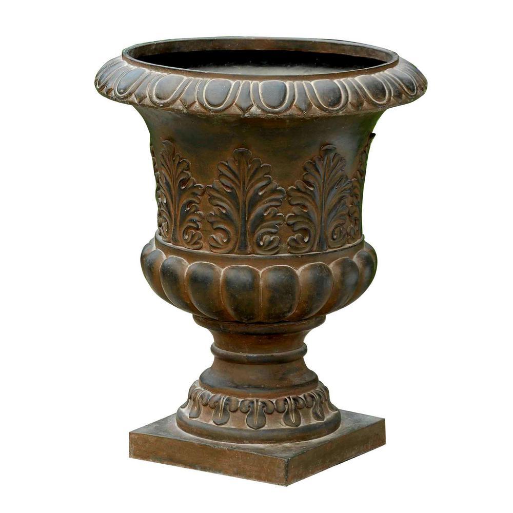 Classic Rustic Bronze Fiberclay Urn Planter
