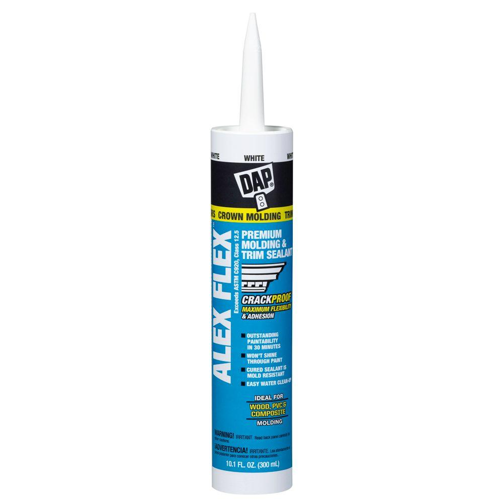 Dap alex flex 10 1 oz white premium molding and trim - Wood filler or caulk for exterior trim ...