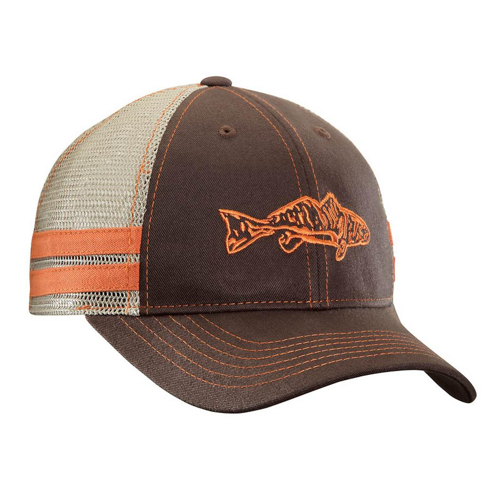 b860c91166360 Flying Fisherman Chocolate and Khaki Redfish Trucker Hat-H1730 - The ...