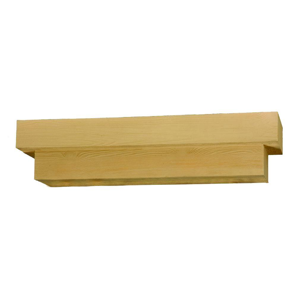 Fypon 72 in. x 8 in. x 10 in. Wood Grain Texture Square Pot Shelf-DISCONTINUED