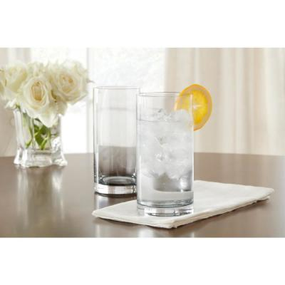 Skylar Charcoal Gray Ombre 12.4 oz. Double Old-Fashioned and 19.8 oz. Highball Glasses (Set of 16)