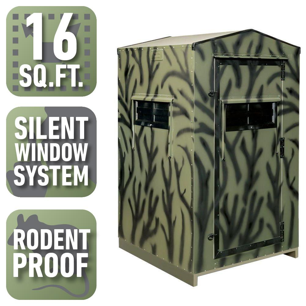 4 ft. x 4 ft. Insulated Gun Hunting Blind Kit (Assembly