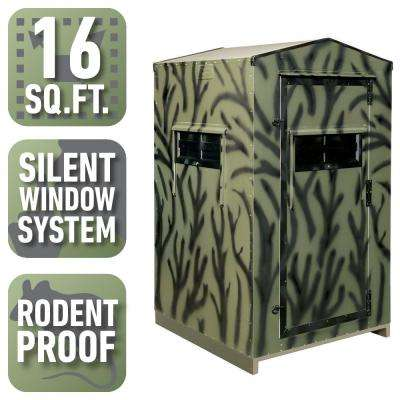 4 ft. x 4 ft. Insulated Gun Hunting Blind Kit (Assembly Required)